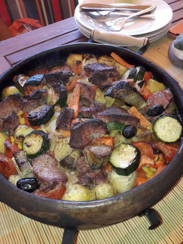 zahradna pec maso