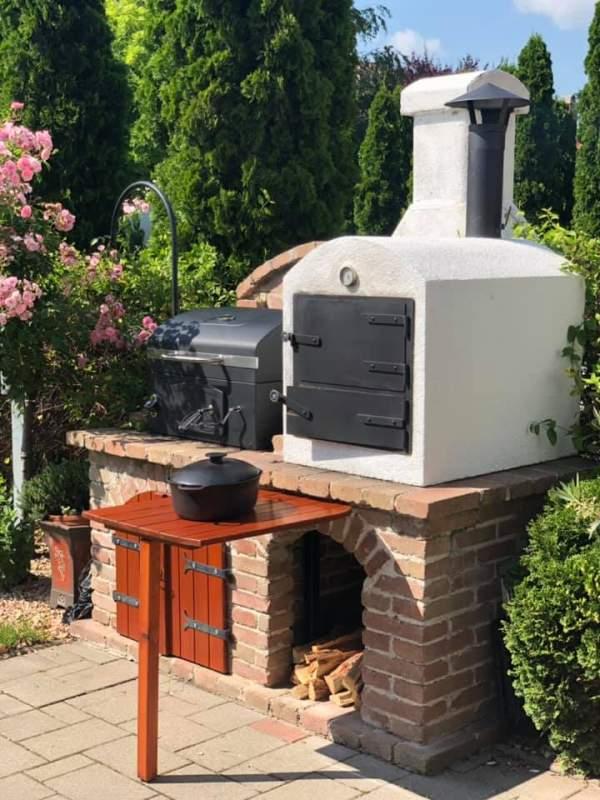 záhradná pec na pečenie chleba