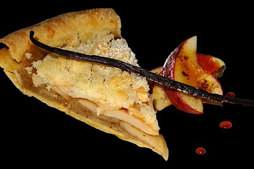 Jablčný koláč z lineckého cesta s jablkami z pece