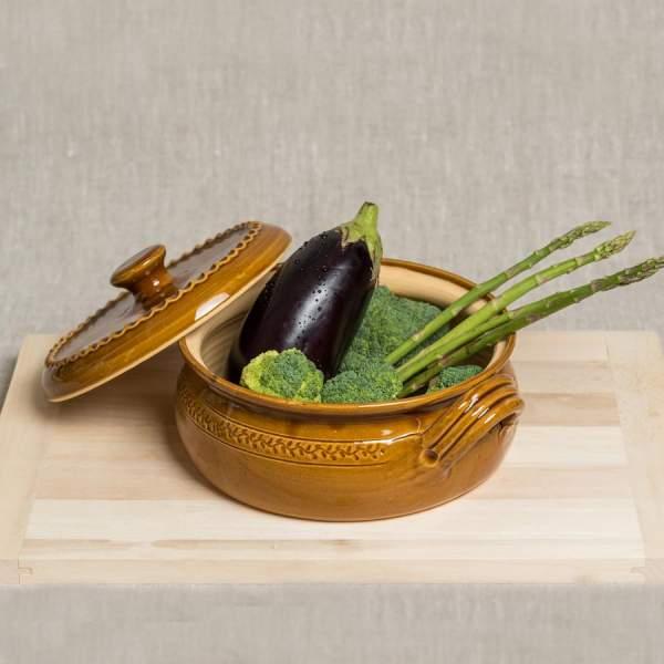 Šamotovo-hlinený pekáč do pece - hnedý 3