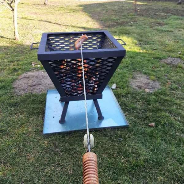 Záhradné kovové ohnisko a gril 2