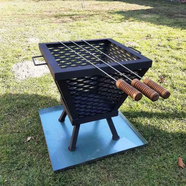Záhradné kovové ohnisko a gril do zahrady 2
